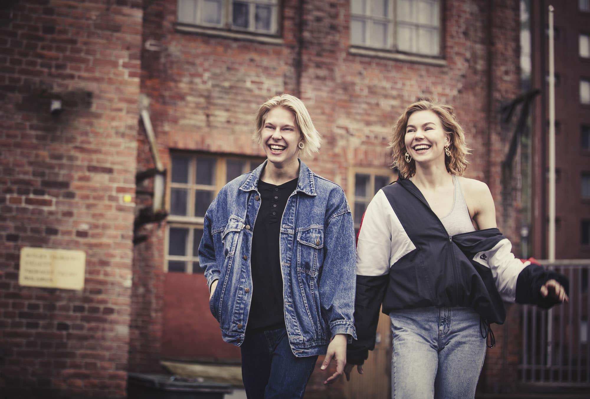 Tanssijat Eerika Ahonen ja Jasmir Vesander